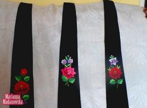 Łowickie krawaty wyhaftowane ręcznie przez Mariannę Madanowską