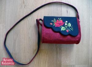 Modna folkowa torebka damska haftowana ręcznie